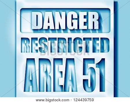 area 51 sign with some soft flowing lines