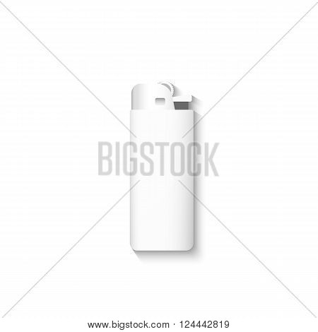 Vector lighters. Lighter isolated on a white background. Template lighter.