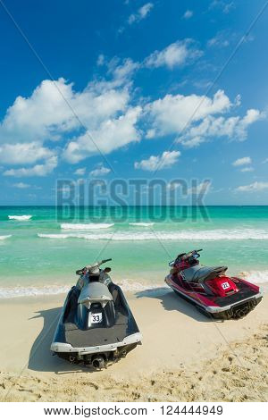 Jetski on the beach in Chaweng Koh Samui Thailand