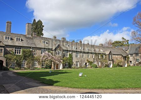 exterior of Dartington Hall buildings in Devon
