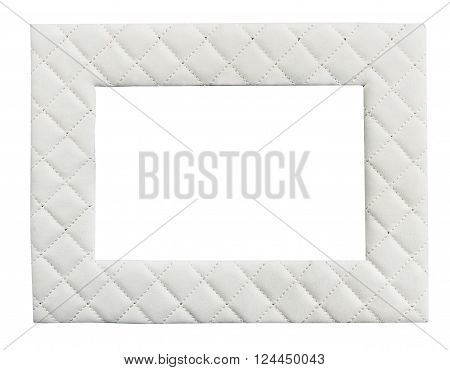 Rich vinyl and silver photo frame with clipping path on white isolated background