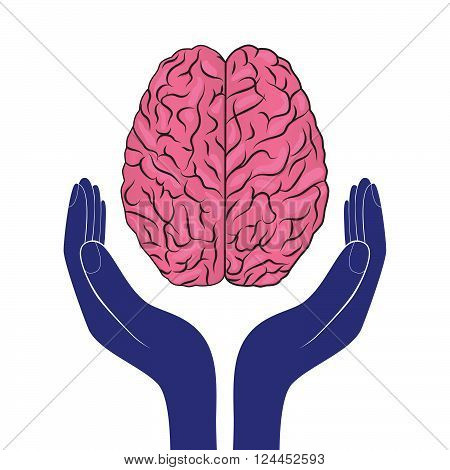 mental health sign vector human brain as concept