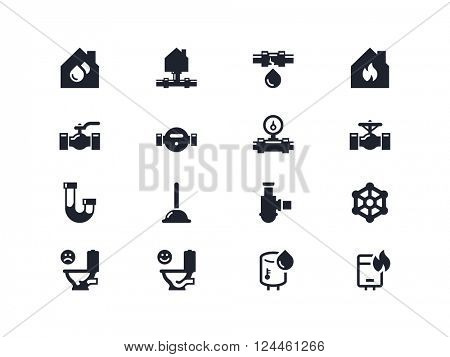 Plumbing. Home repair icons. Lyra series