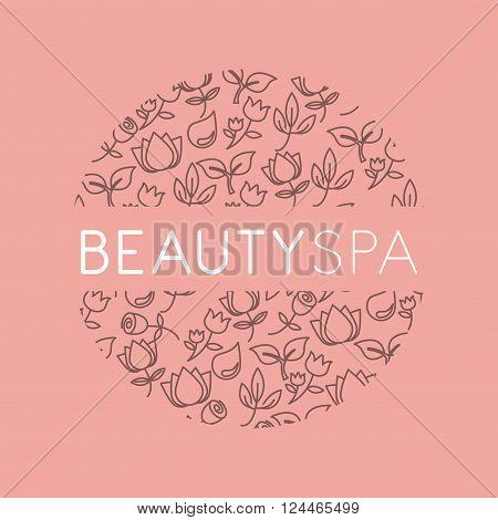 beauty spa design, vector illustration eps10 graphic