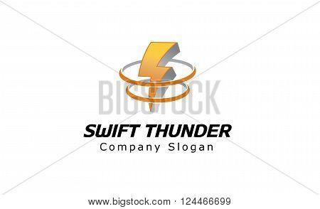 Swift Thunder Creative And Symbolic Logo Design Illustration