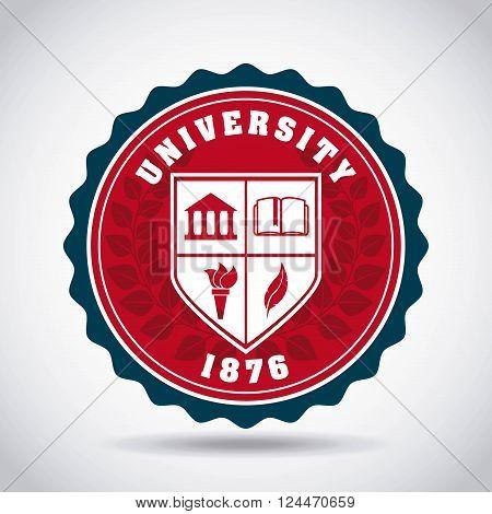 university emblem design, vector illustration eps10 graphic