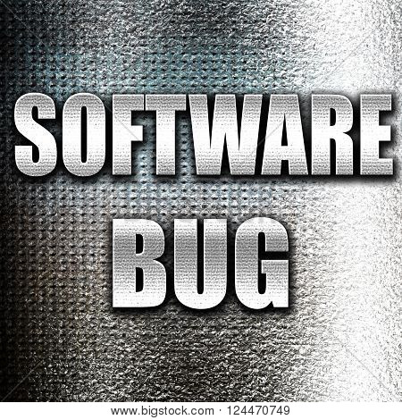 Grunge metal Software bug background with some soft smooth lines