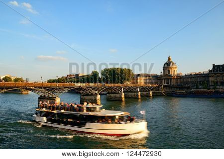 River Seine and historical architecture in Paris, France.