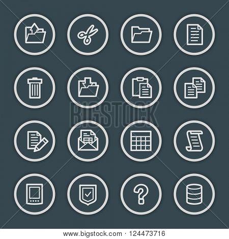 Document web icons set