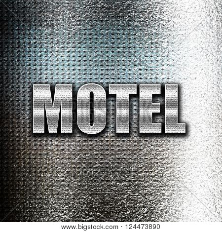 Grunge metal Vacancy sign for motel with some soft glowing highlights