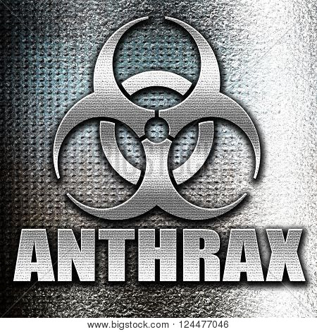 Grunge metal Anthrax virus concept background with some soft smooth lines