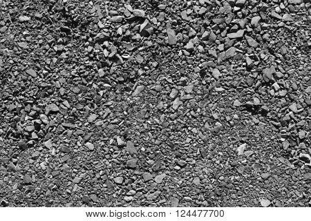 Closeup of gravel texture background