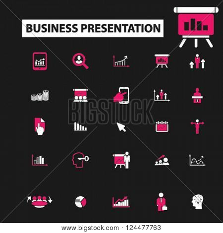 business presentation icons