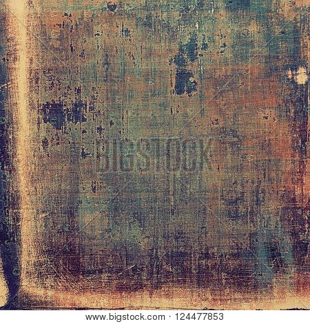 Abstract vintage background with faded grungy texture. Aged backdrop with different color patterns: yellow (beige); brown; blue; red (orange); purple (violet)
