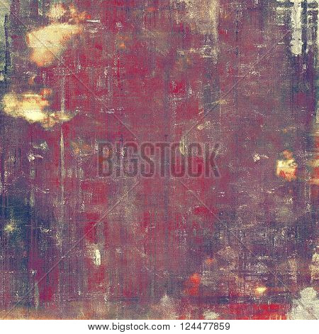Vintage aged texture, old scratched background. With different color patterns: yellow (beige); red (orange); purple (violet); pink; gray