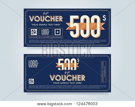 Voucher design. Discount coupon. Special offer voucher. Layout voucher. Voucher background. Sale voucher coupon. Voucher. Gift voucher template. Discount voucher. Gift certificate. Sides of gift voucher. Gift coupon template. Vector voucher template.