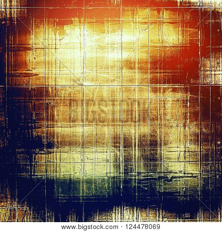 Glamour vintage frame, decorative grunge background. Aged texture with different color patterns: yellow (beige); brown; blue; red (orange)