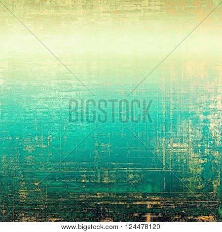 Scratched vintage texture, grunge style frame or background. With different color patterns: yellow (beige); green; blue; white; cyan