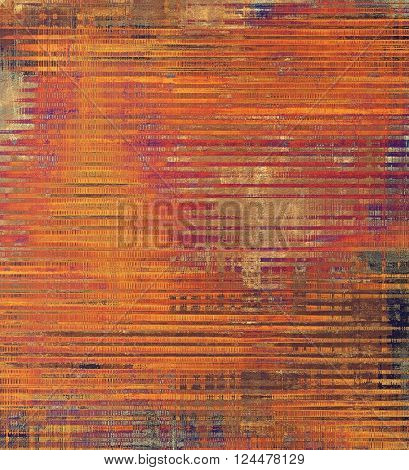Retro vintage style background or faded texture with different color patterns: yellow (beige); brown; red (orange); purple (violet); pink