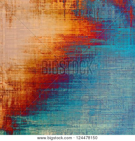 Traditional grunge background, scratched texture with vintage style design and different color patterns: yellow (beige); brown; blue; red (orange); pink