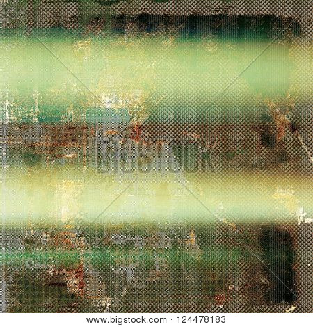 Abstract vintage background with faded grungy texture. Aged backdrop with different color patterns: yellow (beige); brown; green; gray; cyan