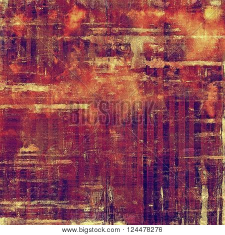 Grunge background with vintage style graphic elements, retro feeling composition and different color patterns: yellow (beige); red (orange); purple (violet); pink