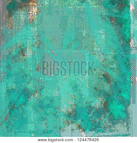 Colorful abstract retro background, aged vintage texture. With different color patterns: brown; green; blue; gray; cyan