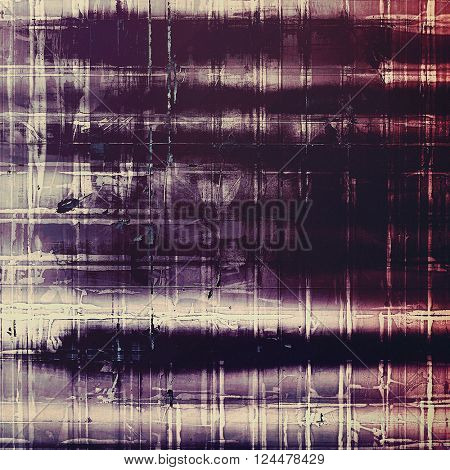 Vintage style designed background, scratched grungy texture with different color patterns: blue; purple (violet); pink; gray; black