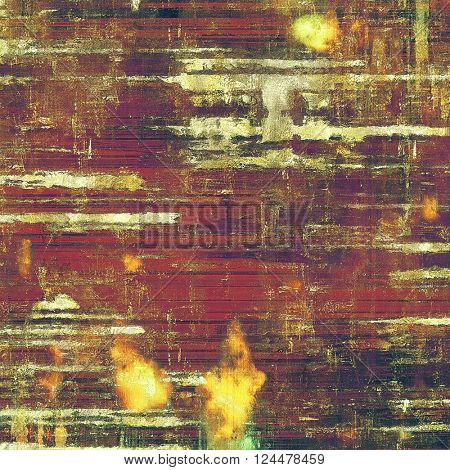 Vintage style designed background, scratched grungy texture with different color patterns: yellow (beige); brown; green; red (orange); purple (violet)