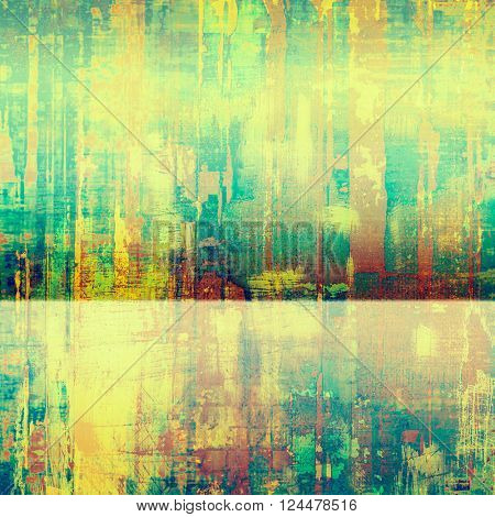 Creative vintage surface texture, close up grunge background composition. With different color patterns: yellow (beige); green; blue; red (orange)