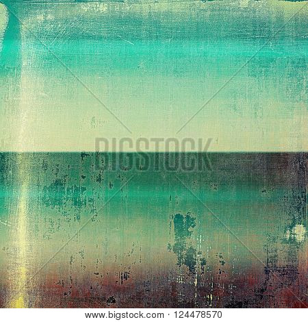 Old crumpled grunge background or ancient texture. With different color patterns: yellow (beige); brown; green; blue; cyan