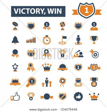 victory, win icons