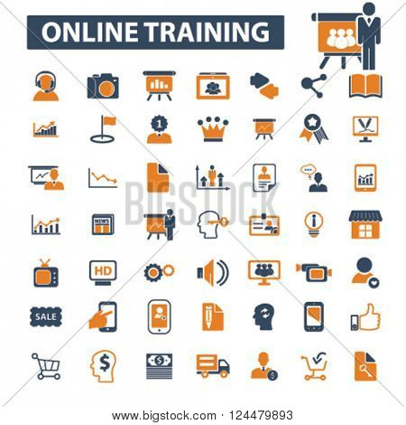online training icons