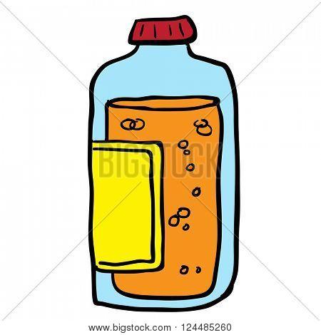 juice bottle cartoon