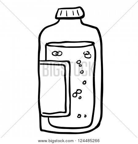 black and white juice bottle cartoon