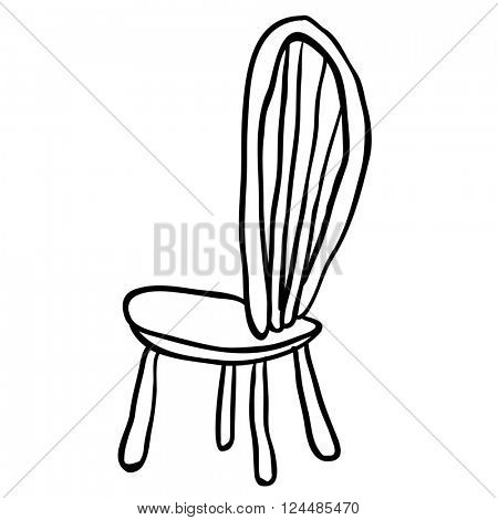 black and white chair cartoon