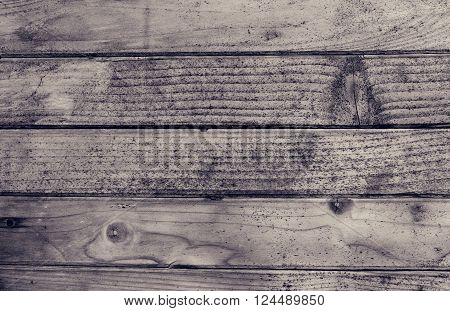 Old black and white wood texture for background. Vintage background from a wooden horizontal shabby plank. Grey wood texture. Background old panels. Strict wallpaper for desktop for man.