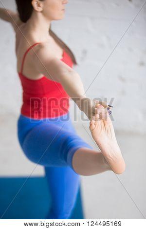 Yoga Indoors: Utthita Hasta Padangustasana