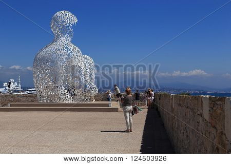 Antibes, France - May 20: It's statue
