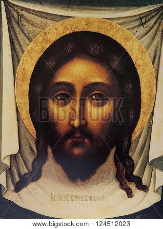 BEIRUT, LEBANON, JANUARY 23, 2015 : christian Byzantine icon in church of annuciation, january 23, 2015 in Beirut, Lebanon.