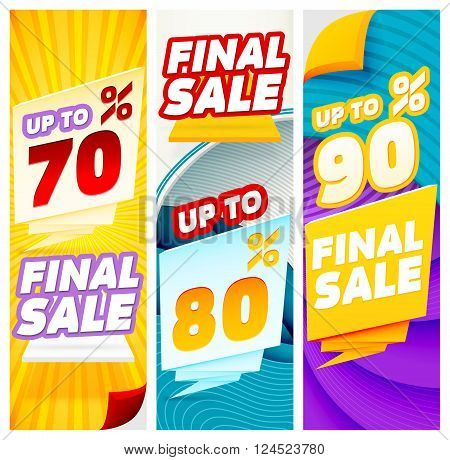 Final sale banners. Banner Templates. Abstract Modern Banners. Vector illustration