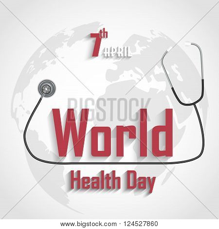 Illustration of World Health Day on grey background