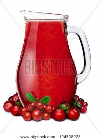 Pitcher Of Cranberry Lingonberry Smoothie