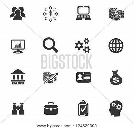 business management and human resources web icons for user interface design