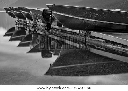 Boats Resting On Dock