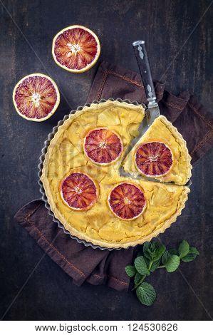 Tart au Citron in Backing Form