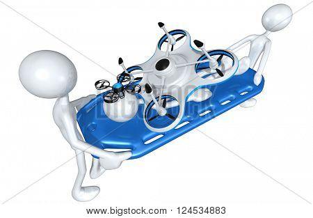 Aerial Drone 3D Illustration Concept