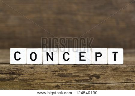 The Word Concept Written In Cubes