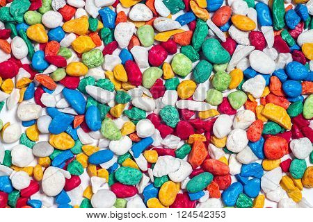Colorful stone on pattern and abstract background