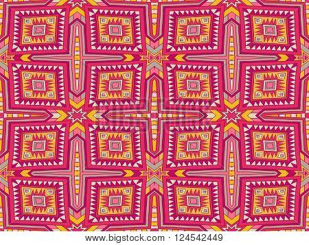 Background Tribal Monogram Aztec Texture Colorful 1